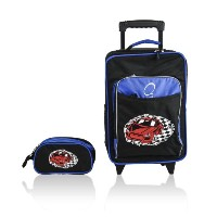 Obersee Kids Luggage and Toiletry Bag Set, Racecar by Obersee