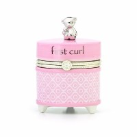 Nat and Jules First Curl Keepsake Box, Pink by Nat and Jules