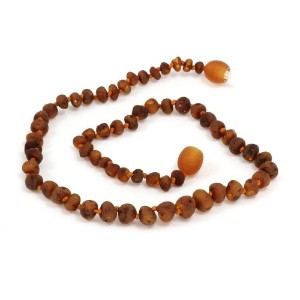 Momma Goose Baltic Amber Baby Necklaces (small, baroque unpolished cognac) by Momma Goose