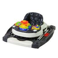 505-G Evolution Entertainment Hub 2 in 1 Walker and Rocker 2 in 1 ベビーウォーカー/歩行器 Dream On Me社 Grey...