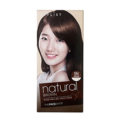[ザフェイスショップ The Face Shop] Stylist Silky Hair Dye Color Cream Ntural Brown