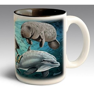 Going Costal Ocean Collage 16 oz. Ceramic Stoneware Coffee Mug by American Expedition