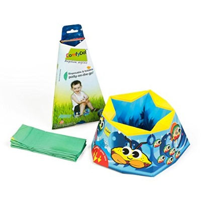ComfyDo Disposable and Foldable Travel Potty Training Seat, Ocean Blue by ComfyDo