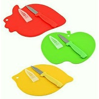 fruit-shaped Mini Cutting Boards with果物、ナイフ3-set