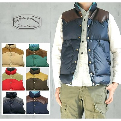 【Rocky Mountain Featherbed ロッキーマウンテン】【正規販売】 送料無料!MEN'S DOWN VEST(ダウンベスト)450-472-01【郵便局/コンビニ受取対応】
