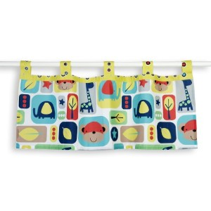 Sumersault Window Valance, Zoo Squares by Sumersault