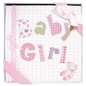 Whimsical PINK BABY GIRL's First PHOTO ALBUM/Newborn Infant GIRL/HOLDS 72 Photos 4 x 6/Great BABY...