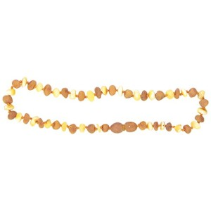 Momma Goose Baroque Teething Necklace, Unpolished Lemon and Cognac, Small/11-11.5 by Momma Goose