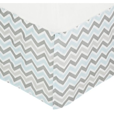 American Baby Company 100% Cotton Tailored Bed Skirt with Pleat, Blue by American Baby Company