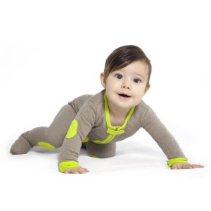 Baby Deedee Sleepsie Footie Pajamas, Khaki/Lime, 6-12 months by baby deedee