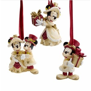 Disney(ディズニー)Minnie and Mickey Mouse Holiday Ornament Set ミニーとミッキーの飾りセット 【並行輸入品】