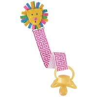 Mud Pie Pacy Clip, Pink Lion by Mud Pie