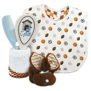 Stephan Baby Sports Fun 4 Piece Bathing Gift Set, White by Stephan Baby
