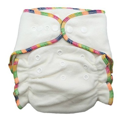 Heavy Wetter Bamboo / Organic Cotton One Size Fitted Diaper And 2 Inserts (Fits 7-25lbs) by THX
