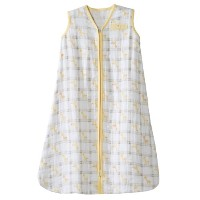 HALO 100% Cotton Muslin Sleepsack Wearable Blanket, Giraffe Plaid, Small by Halo