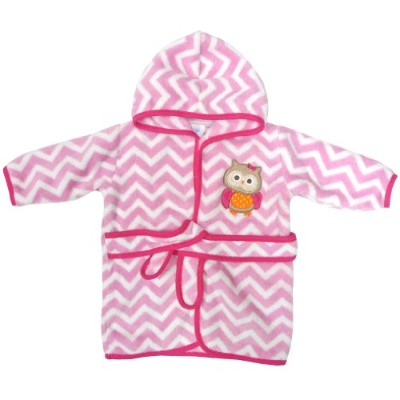Neat Solutions Applique Print Coral Fleece Bath Robe, Owl by Neat Solutions