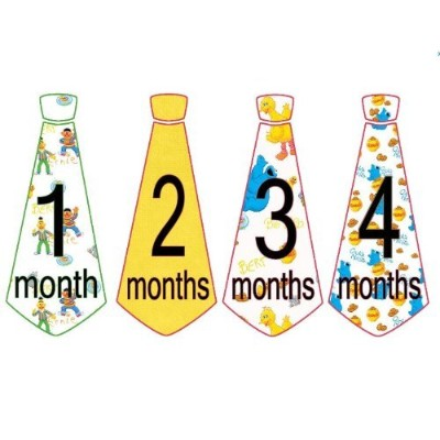 Monthly Baby Stickers Monthly Tie Stickers Boy Necktie Monthly Baby Boy Tie Stickers Sesame Street...
