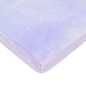 TL Care Heavenly Soft Chenille Fitted Bassinet Sheet, Lavender by American Baby Company