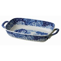 Spode Blue Italian Handled Serving Dish by Spode