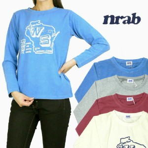 【4900円⇒2450円】nrab (ナーブ) / BARNS(バーンズ) Lady's 長袖Tシャツ/WISCONSIN STATE BR-4955F 【smtb-k】【ky】プレゼント ギフト