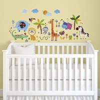 Crazy Jungle Animals Baby/Nursery Wall Sticker Decals for Boys and Girls by CherryCreek Decals ...