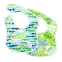 Bumkins Waterproof Starter Bib, Blue Crocs and Turtles, 2-Count by Bumkins