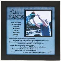 Grandparent Gifts My Daddy's Hands black wall/table frame Space for photo 8x8 by The Grandparent...