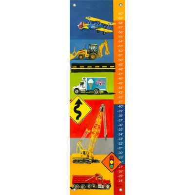 Oopsy Daisy Graphic Transportation by Jill Bachman Pabich Growth Charts, 12 by 42-Inch by Oopsy...