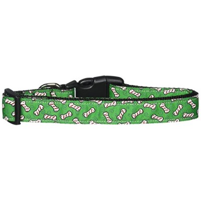 Mirage Pet Products 25-07 LG Candy Cane Bones Nylon and Ribbon Collars . Large