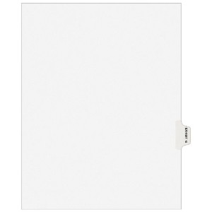 Preprinted Legal Side Tab Dividers, Exhibit G, Letter, White, 25/Pack (並行輸入品)