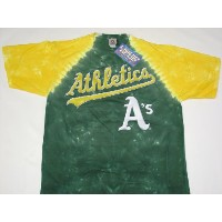 Oakland Athletics MLB Tye Die Tシャツ( Large )