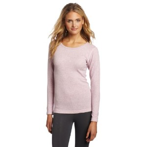 Hanes KWM1 Duofold Originals Mid-Weight Womens Thermal Shirt Size Medium, Berry Pink Heather