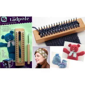 Authentic 編み機 6x1.5インチ The Tadpole Knitting Board