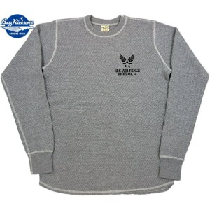 "BUZZ RICKSON'S/バズリクソンズ L/S THERMAL T-SHIRT""U.S. AIR FORCE"" エアフォースマーク入り、長袖サーマルTシャツ/ワッフルTEE H.GRAY..."