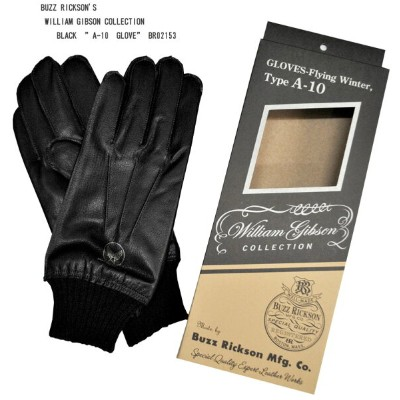 """BUZZ RICKSON'S (バズリクソンズ)WILLIAM GIBSON COLLECTIONBLACK """"A-10 GLOVE""""BR02153"""
