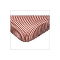 Lambs & Ivy Red Gingham Fitted Crib Sheet by Lambs & Ivy
