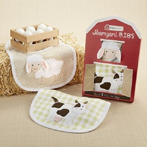 Baby Aspen 2-Piece Bib Set, Barnyard Bibs by Baby Aspen, Inc (English Manual)