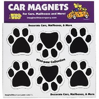 Imagine This 1-3/4-Inch by 1-3/4-Inch 6 Mini Paws Car Magnet, Black by Imagine This