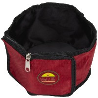 Pet Life S1RD Red Wallet Travel Pet Bowl