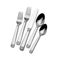 Mikasa Riverside Park Frost 5-Piece Stainless Steel Flatware Set, Service for 1 by Mikasa