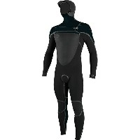 オニール メンズ サーフィン スポーツ O'Neill PsychoTech Fuze 5.5/4 Hooded Wetsuit - Men's Black/Slate