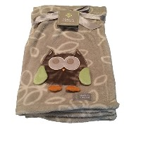 Blankets & Beyond Giraffe Elephant Monkey Blanket Pink Orange by Blankets and Beyond