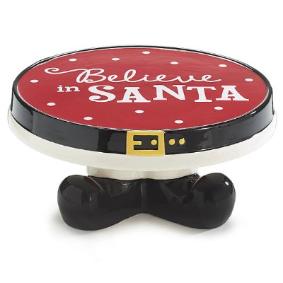 【CAKE PLATE BELIEVE IN SANTA】 サンタクロース ケーキプレート 食器 お皿 クリスマス クリスマス パーティ クリスマス プレゼント クリスマス ギフト アメリカ雑貨...