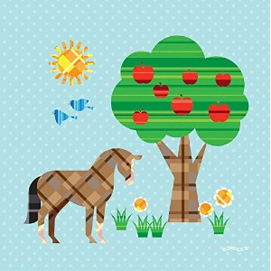 Oopsy daisy, Fine Art for Kids Cluck Peck Moo Horse Stretched Canvas Art by Eleanor Grosch, 10 by...