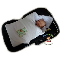 BlueberryShop Cute Velour for CAR SEAT Swaddle Wrap Blanket Sleeping Bag for Newborn, baby shower...