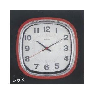 [DULTON]ダルトン クロックSQUARE WALL CLOCK RED S72679RD