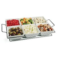 Stantonコレクション7Piece Serving Tray and Bowls Set