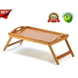 Premium Breakfast Bed Tray From Natures Wood - Best For Breakfast in Bed, TV Tray, Lap Tray or Laptop Desk - Multi-purpose, Lightweight - Makes a Great Gift! by Natures-wood.com
