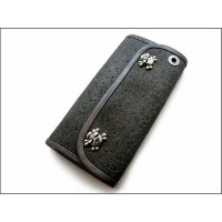 【B.W.L. ビルウォールレザー】ウォレット/W-C63 Lg Currency Hybrid Wallet-Elephant(Natural)
