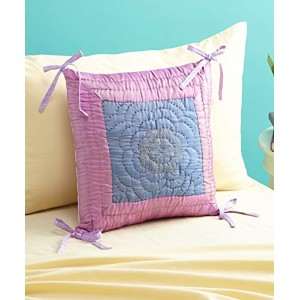 Jaipuri Purple Cushion 16 * 16 with filler by Bacati